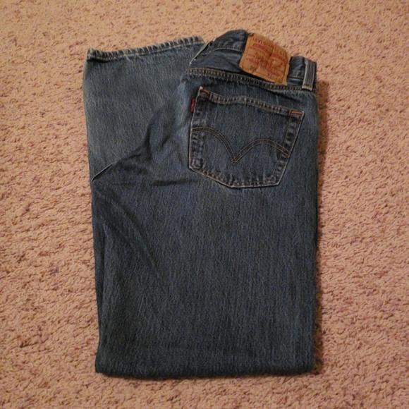 5e2a09f8 Levi's Jeans | Mens Levis 501 Button Fly 34 X 32 17 | Poshmark